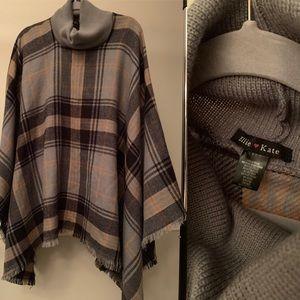 Sweaters - Plaid Pancho